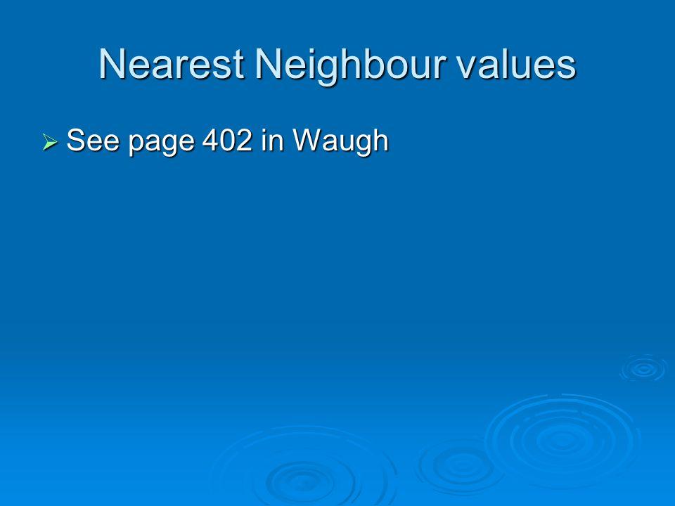Nearest Neighbour values