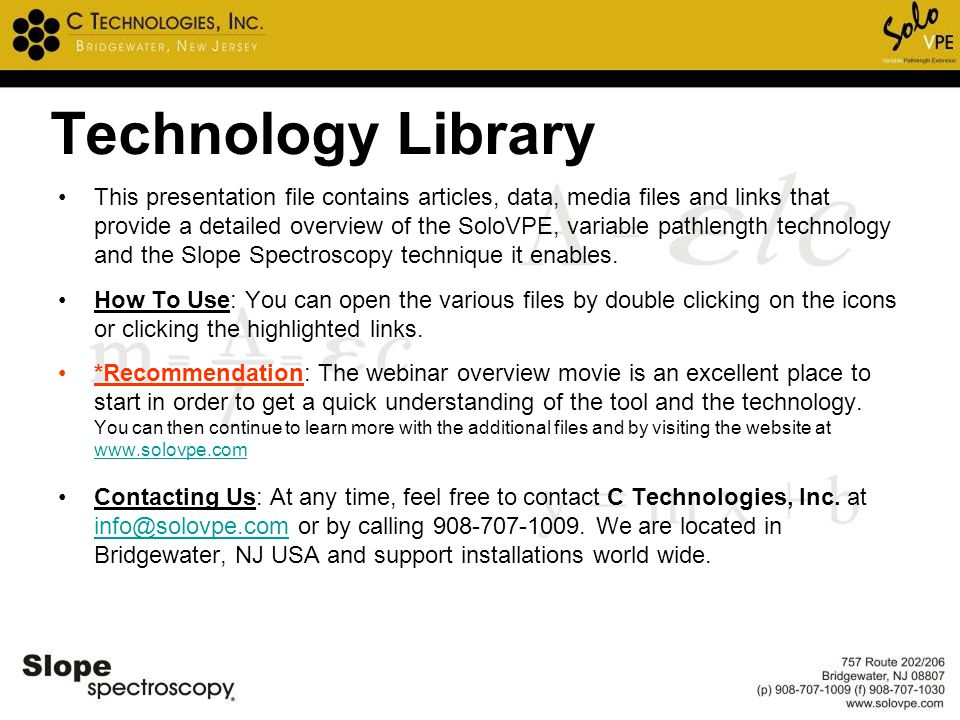 Technology Library