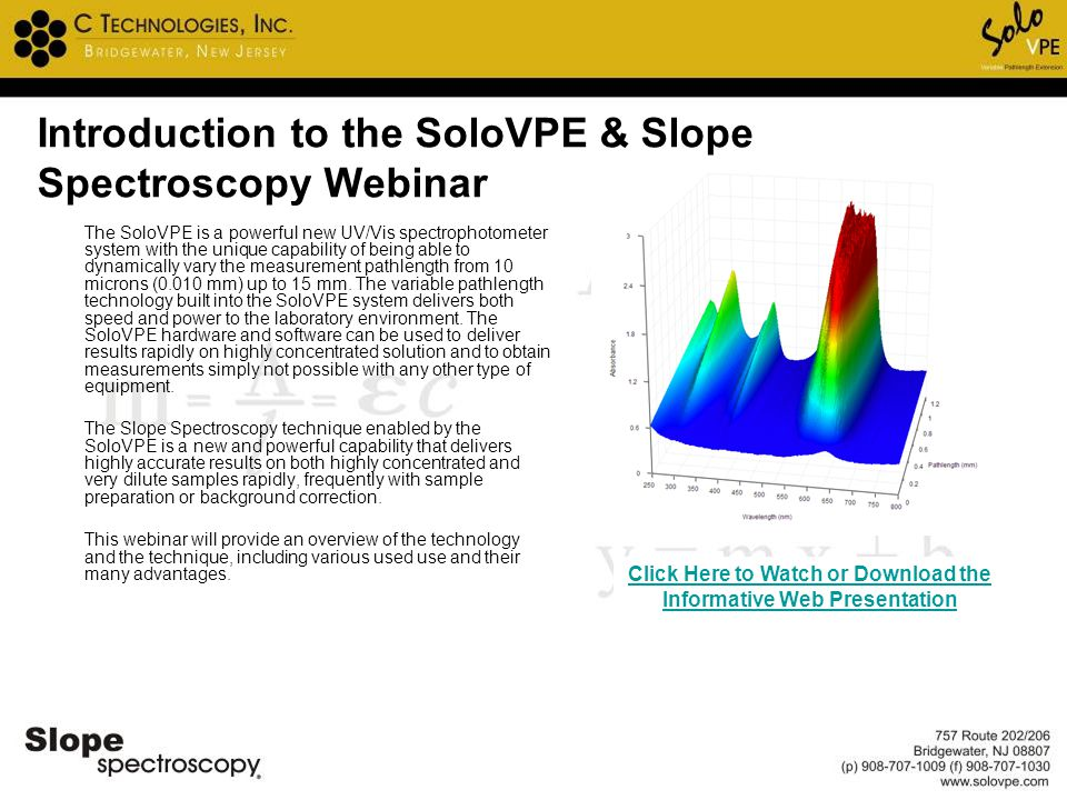 Introduction to the SoloVPE & Slope Spectroscopy Webinar