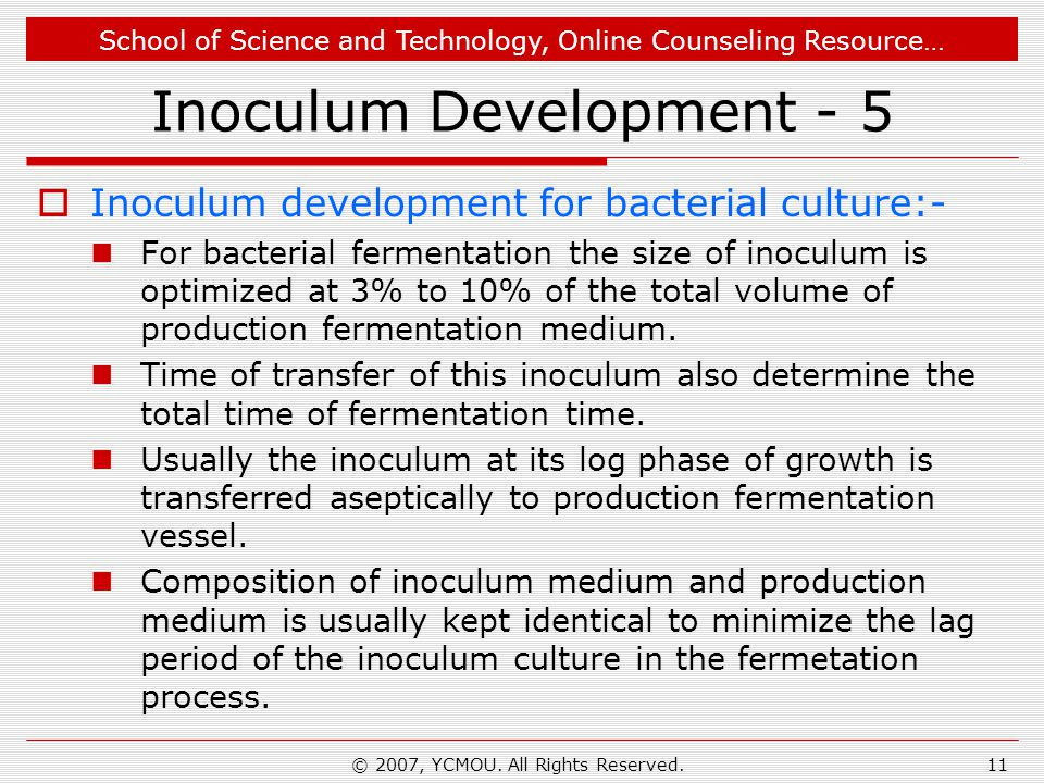 Inoculum Development - 5