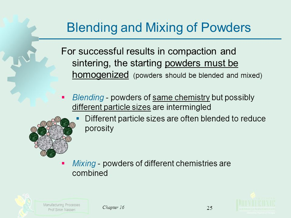 Blending and Mixing of Powders