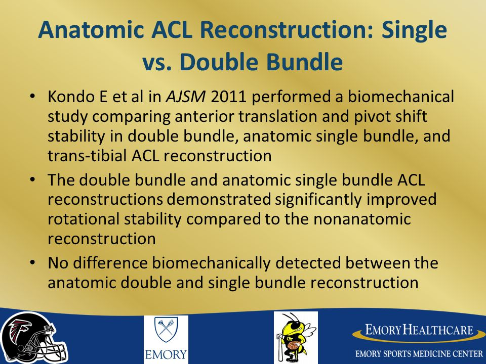 Anatomic ACL Reconstruction: Single vs. Double Bundle