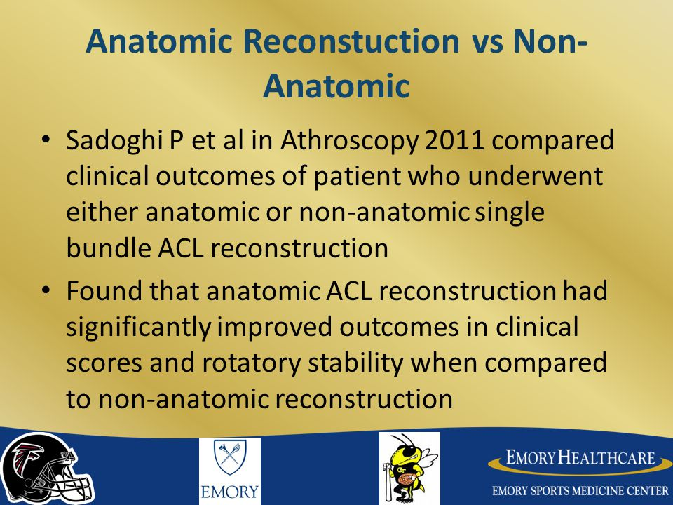 Anatomic Reconstuction vs Non-Anatomic
