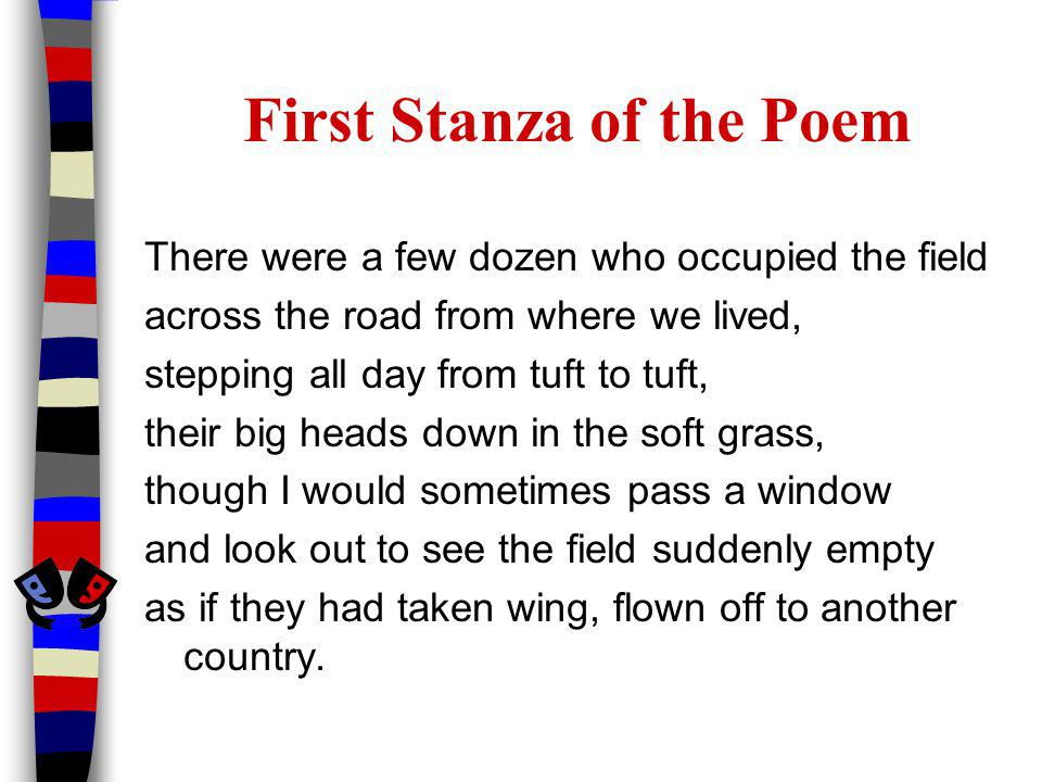 First Stanza of the Poem