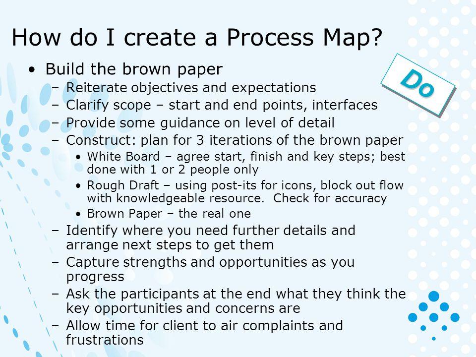How do I create a Process Map