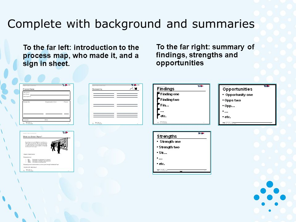 Complete with background and summaries