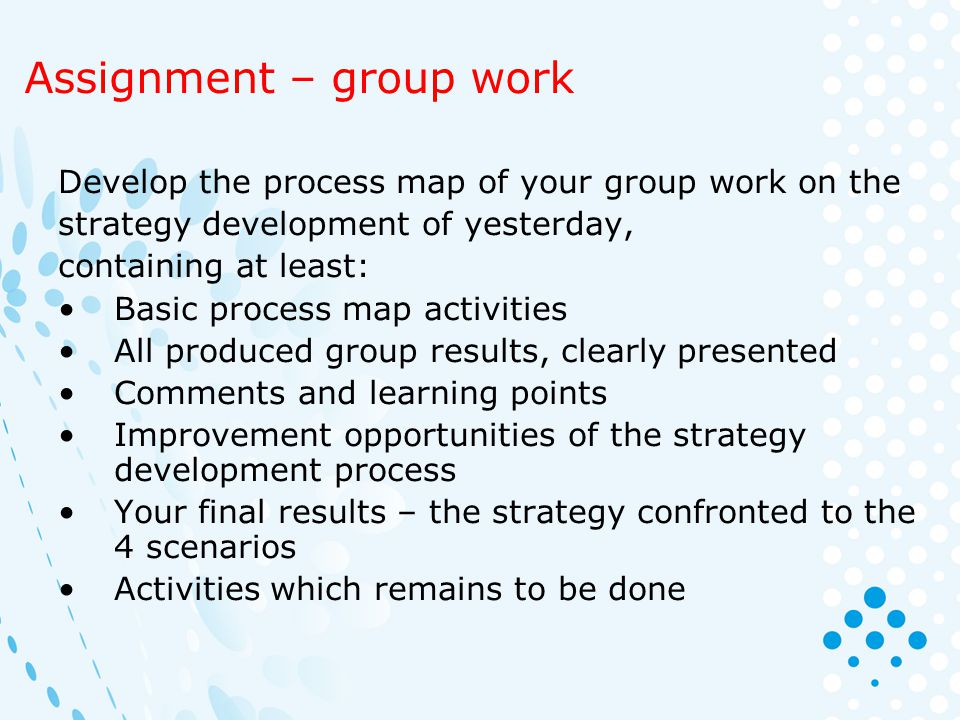 Assignment – group work