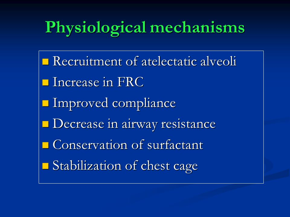 Physiological mechanisms