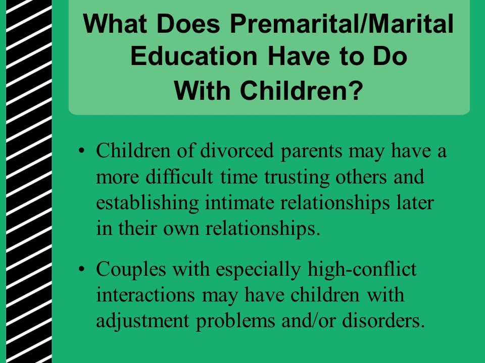 What Does Premarital/Marital Education Have to Do With Children