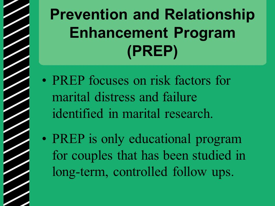 Prevention and Relationship Enhancement Program (PREP)