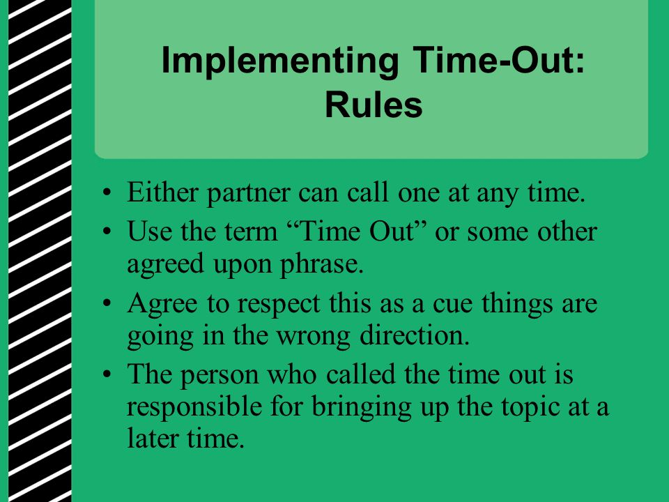 Implementing Time-Out: Rules