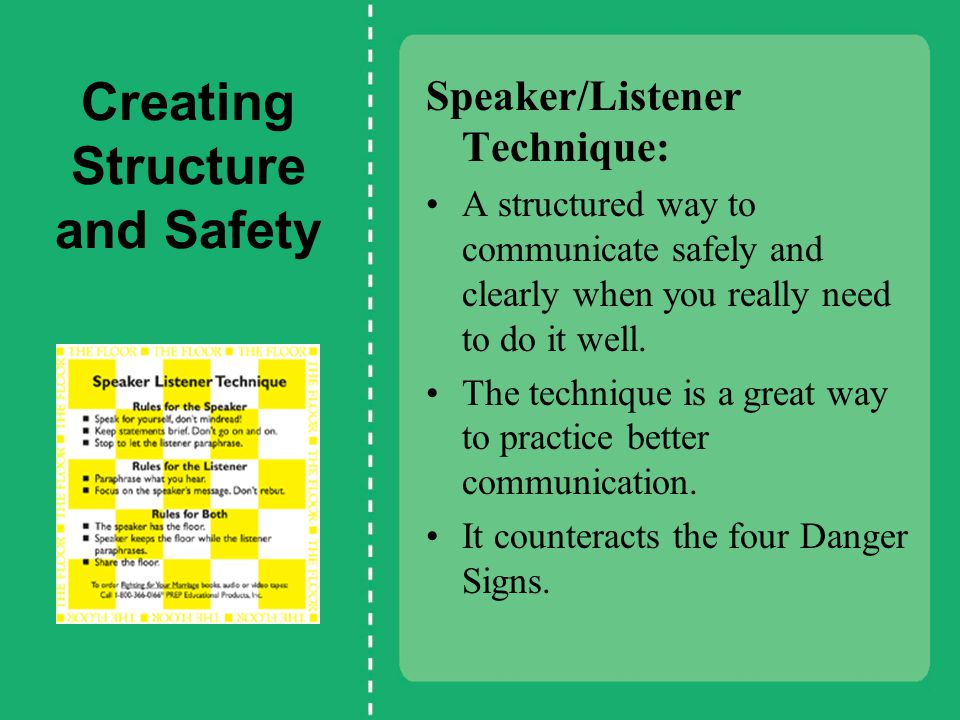Creating Structure and Safety