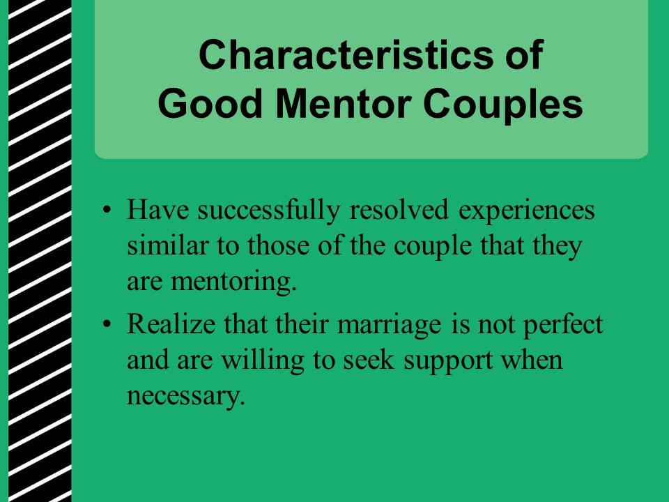 Characteristics of Good Mentor Couples