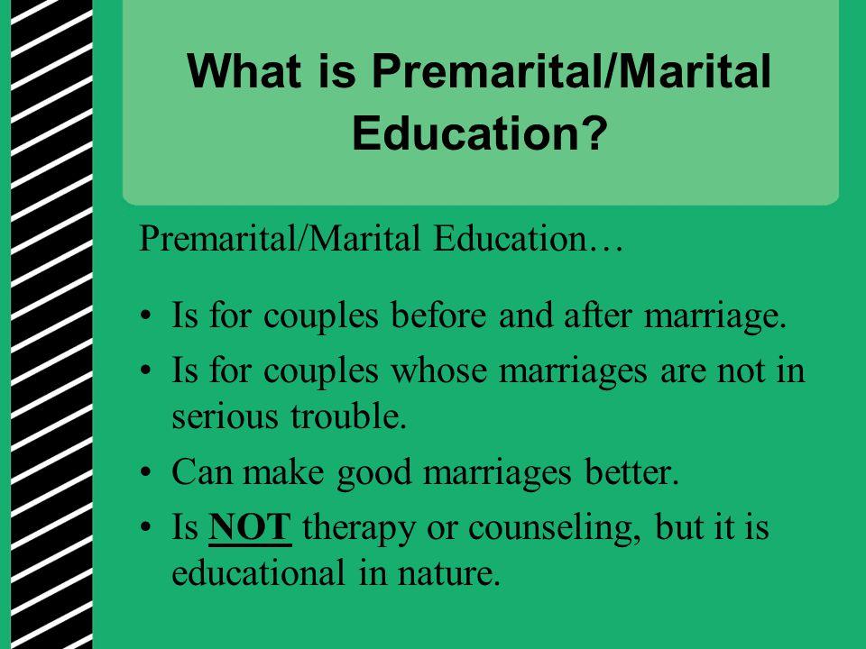 What is Premarital/Marital Education