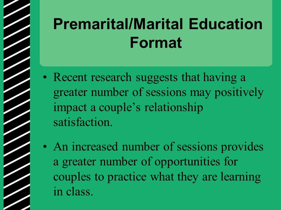 Premarital/Marital Education Format