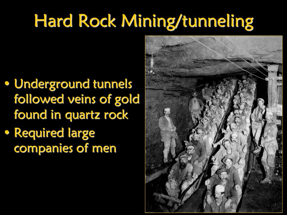 Hard Rock Mining/tunneling