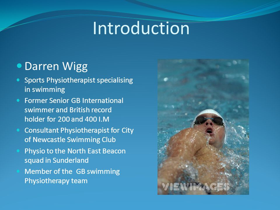 Introduction Darren Wigg