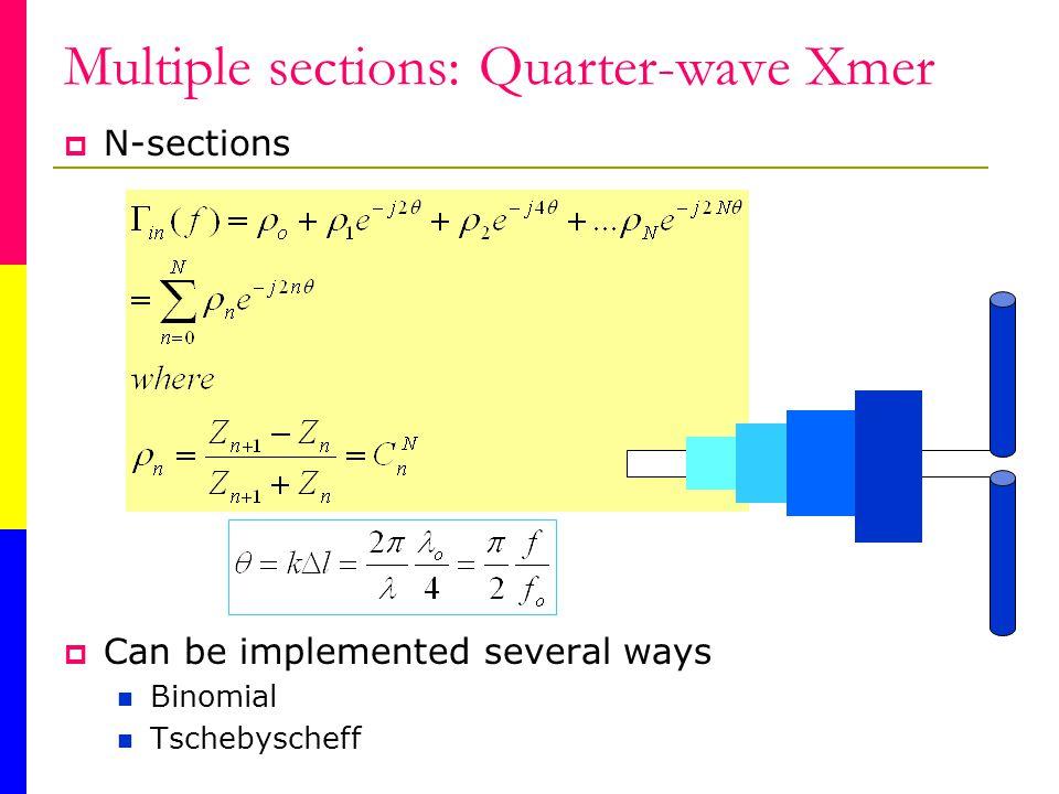 Multiple sections: Quarter-wave Xmer