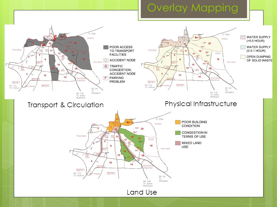 Overlay Mapping Physical Infrastructure Transport & Circulation
