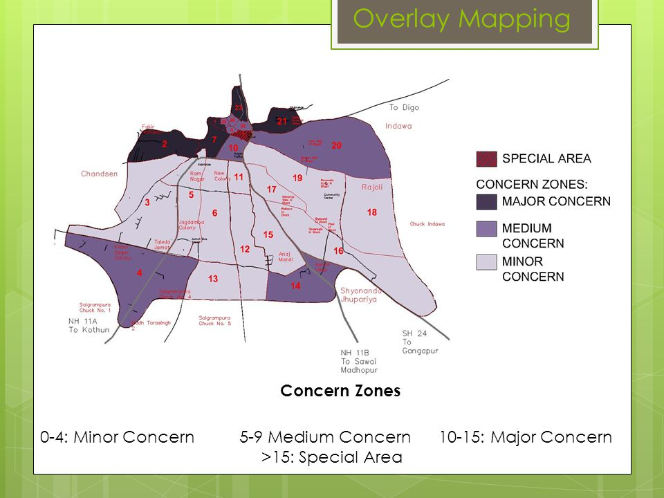 Overlay Mapping Concern Zones