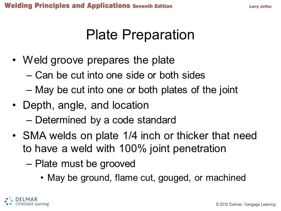 Plate Preparation Weld groove prepares the plate