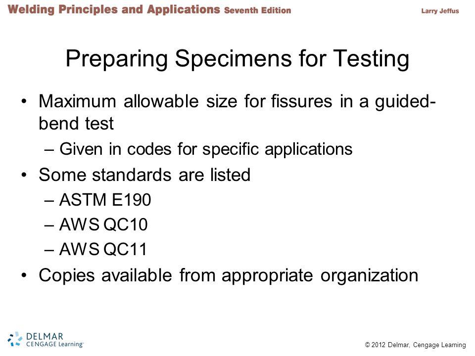 Preparing Specimens for Testing