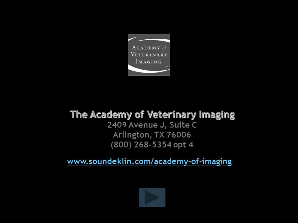 The Academy of Veterinary Imaging