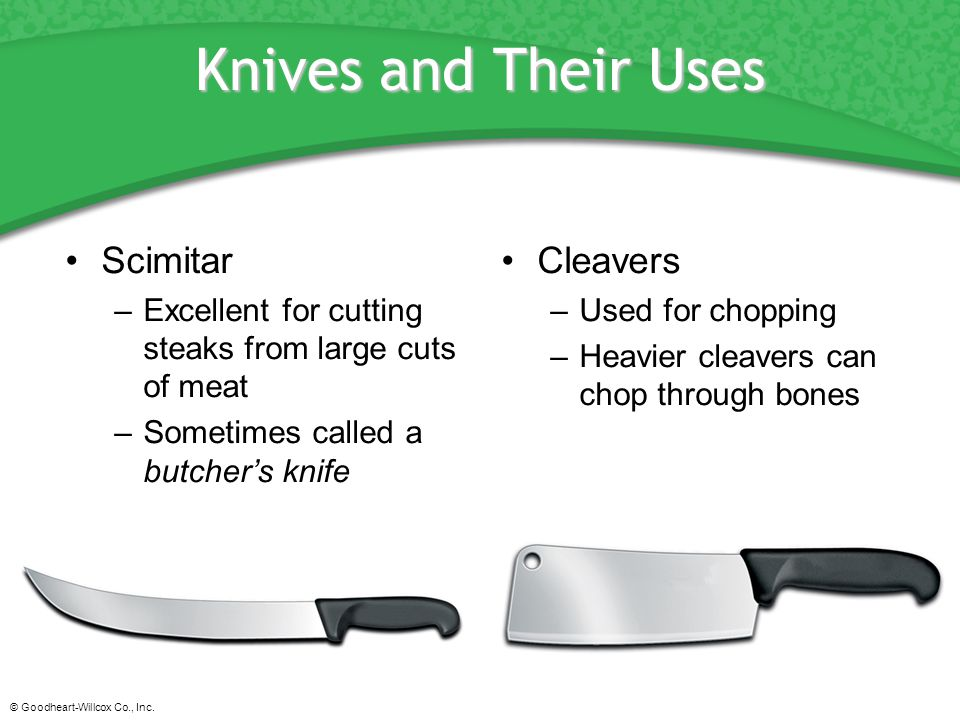 Knives and Their Uses Scimitar Cleavers