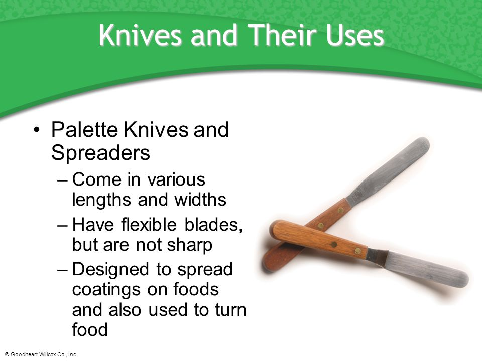 Knives and Their Uses Palette Knives and Spreaders