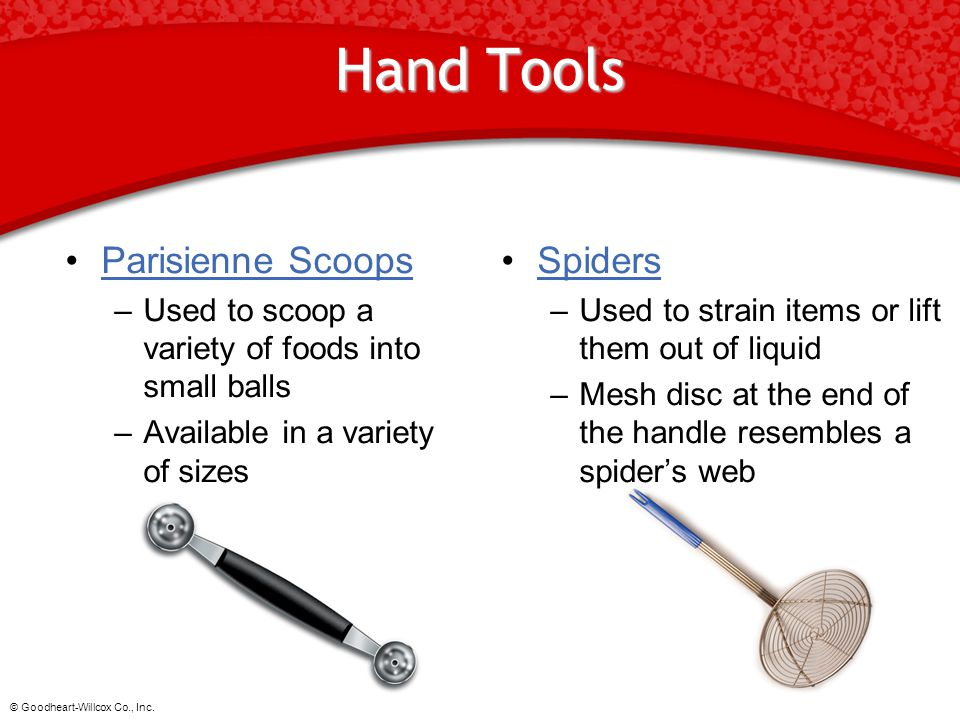 Hand Tools Parisienne Scoops Spiders