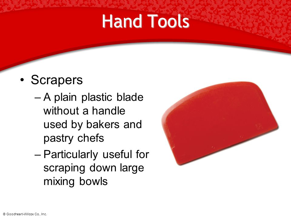 Hand Tools Scrapers. A plain plastic blade without a handle used by bakers and pastry chefs.