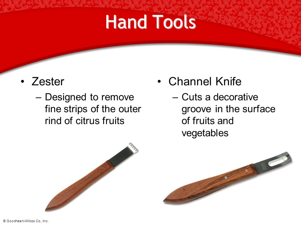Hand Tools Zester Channel Knife