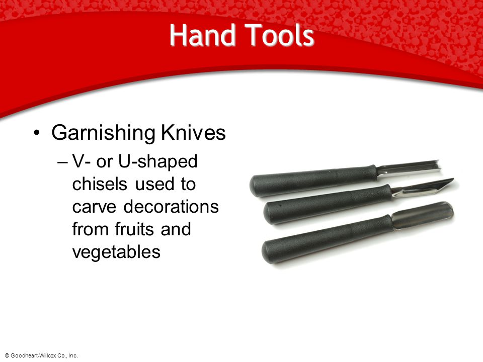 Hand Tools Garnishing Knives