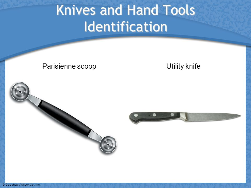 Knives and Hand Tools Identification