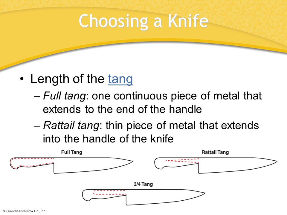 Choosing a Knife Length of the tang