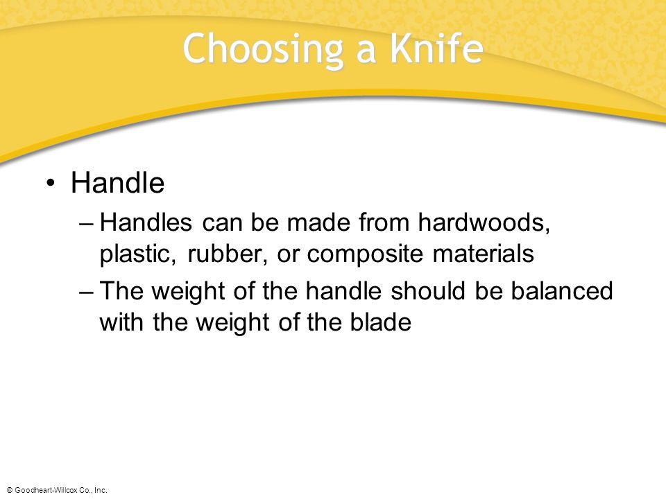 Choosing a Knife Handle