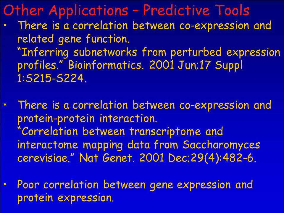 Other Applications – Predictive Tools