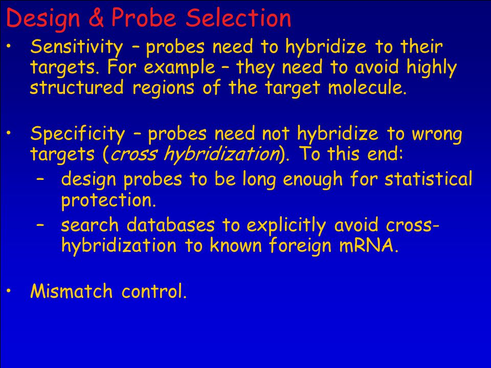 Design & Probe Selection