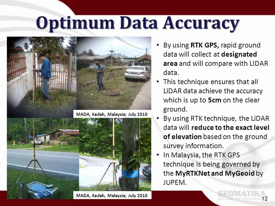 Optimum Data Accuracy MADA, Kedah, Malaysia; July 2010.