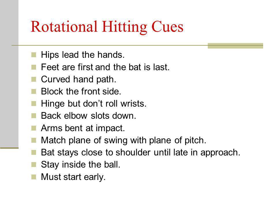 Rotational Hitting Cues