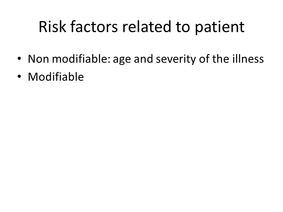 Risk factors related to patient