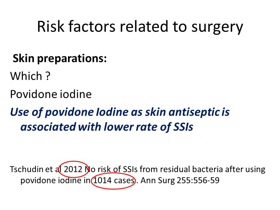 Risk factors related to surgery