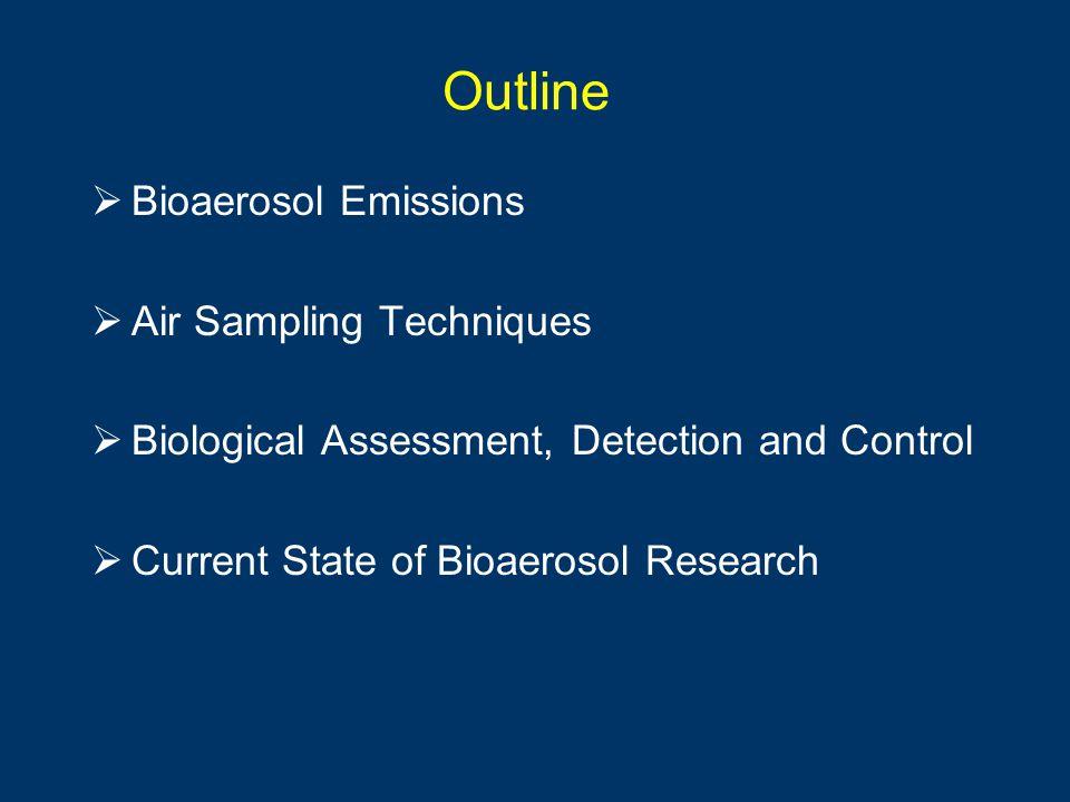 Outline Bioaerosol Emissions Air Sampling Techniques