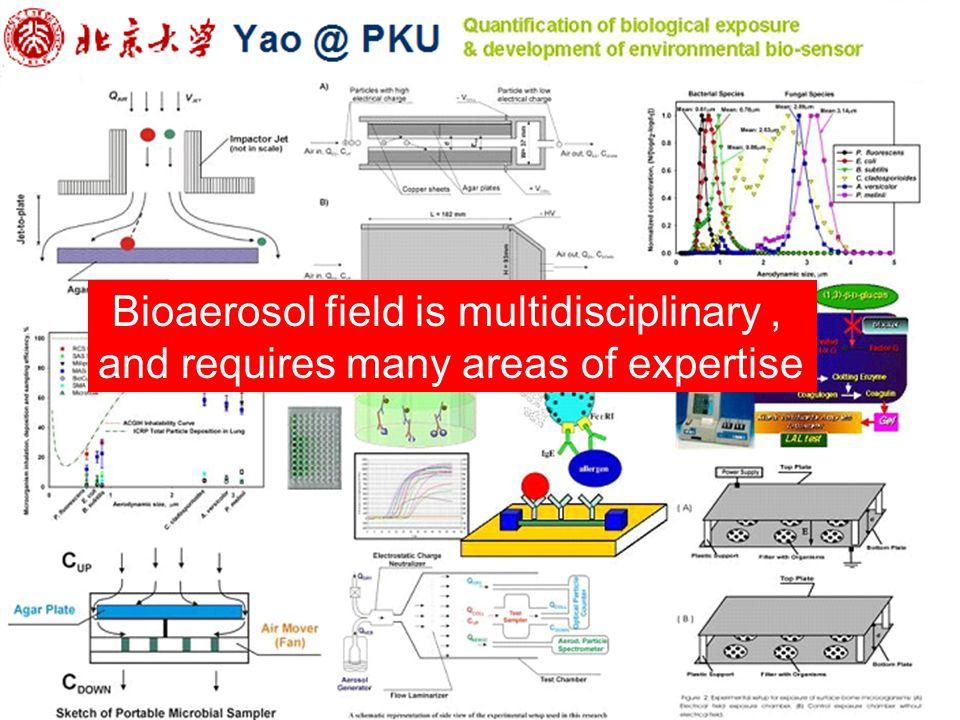 Bioaerosol field is multidisciplinary ,