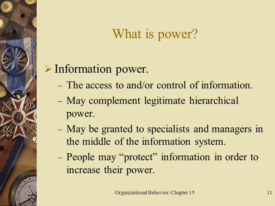 Organizational Behavior: Chapter 15