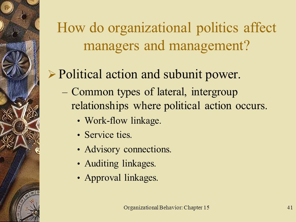 How do organizational politics affect managers and management