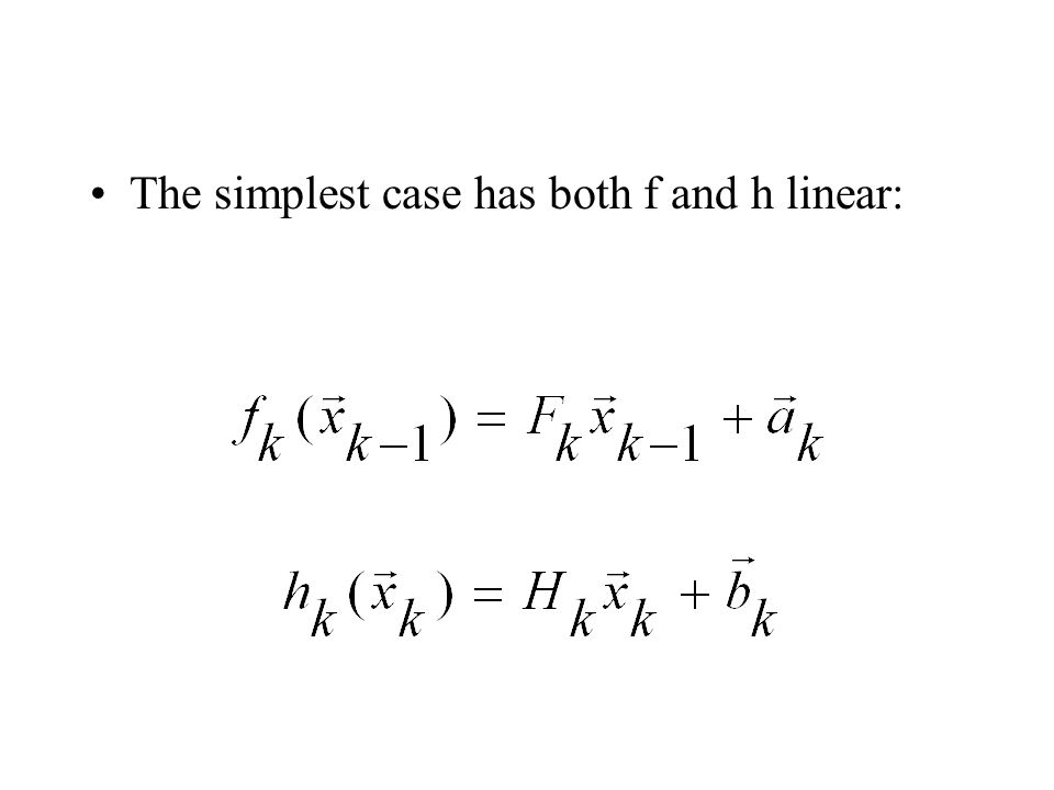 The simplest case has both f and h linear: