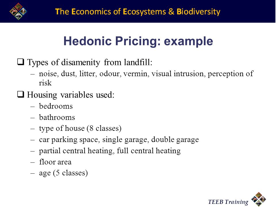 Hedonic Pricing: example