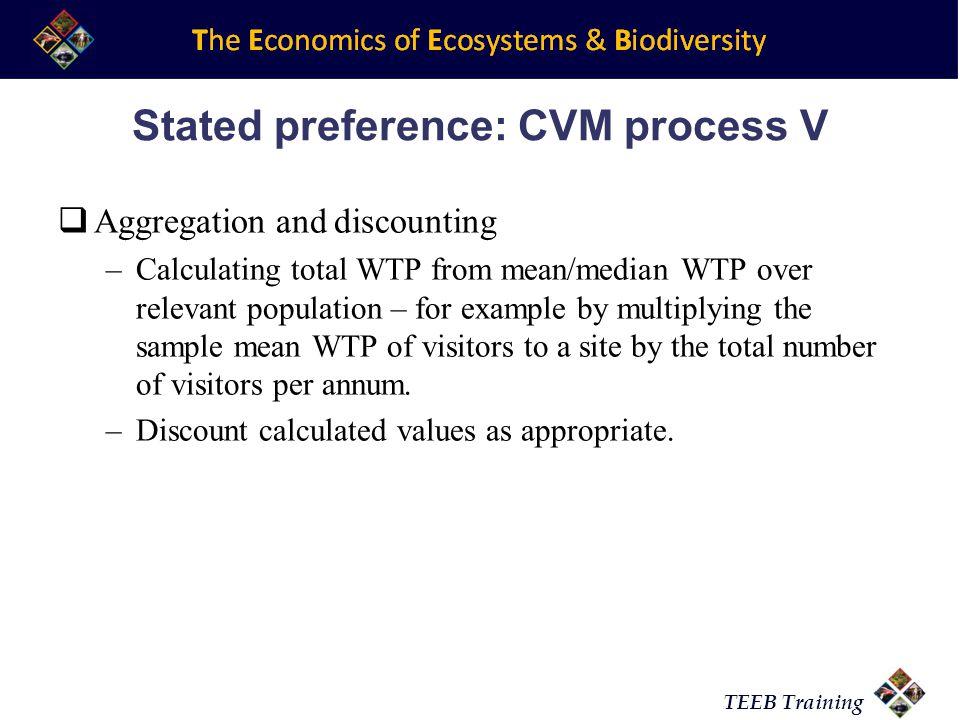 Stated preference: CVM process V