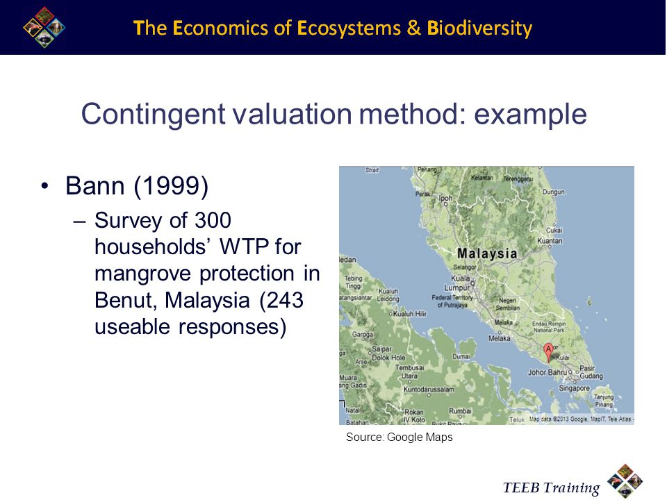 Contingent valuation method: example